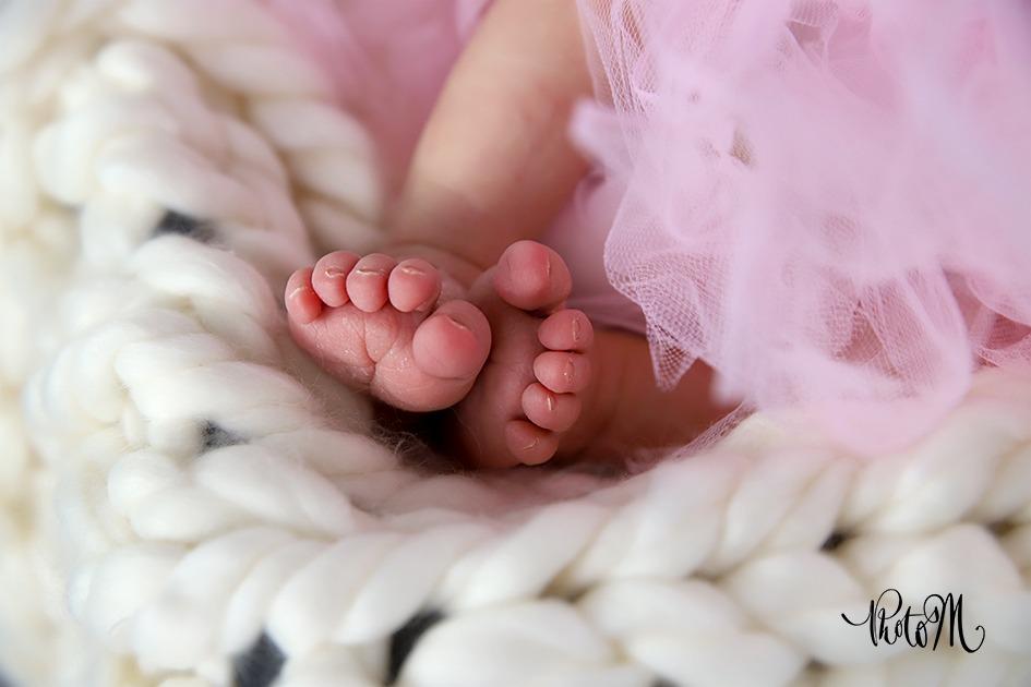 Photographie de naissance des petit petons trop mignons