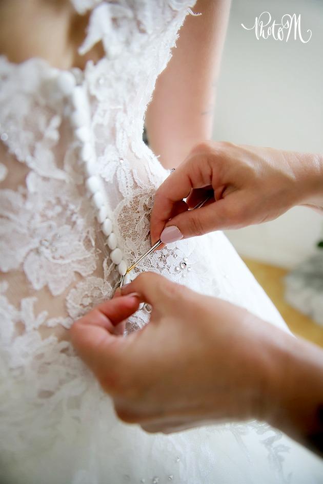 bouton robe de mariée